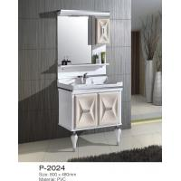 Small / Large Floor Standing Mirrored Bathroom Cabinet One Piece Ceramic Basin Manufactures