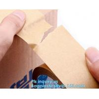 Water-activated Reinforce Kraft Gummed Paper Tape for Sealing & Strapping,Self adhesive kraft paper gummed tape bagease