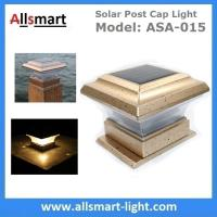 Square Apricot Solar Post Caps Light Outdoor Solar Fence Lamp Stake Timber Pile Lighting Solar Powered Pillar Gate Lamp Manufactures