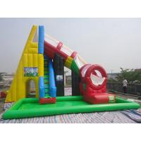 Quality Kids / Adults Outdoor Red Inflatable Swimming Pool Water Slide 0.55 mm PVC for sale