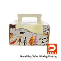 Quality Glossy Varnishing 8 Inch Cake Packaging Boxes , Open Window Personalised Cake Boxes for sale