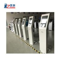 """White Coated Ticket Vending Kiosk 19 """" Screen With Dual Amplified Speakers Manufactures"""