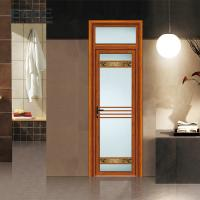 Weather Proof Aluminium Framed Frosted Glass Doors With Stainless Steel Net Screen Manufactures