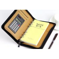 China PU zipper portfolio/leather organizer/presentation folder Factory Conference file folder on sale