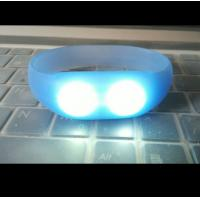 sound and motion activated remote controlled led wristband silicone bracelets Manufactures
