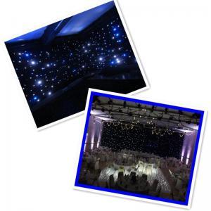 White curtain blackout cloth star led curtain led light black curtain Manufactures