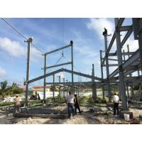 2 Floor Steel Framed Buildings Warehouse Steel Structure With Alkyd Grey Paint in Maldive Manufactures