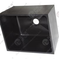 Resist Strong Alkalies And Acid Sink Outlets & Accessories Epoxy Resin Black Sink For Laboratory Worktops Manufactures