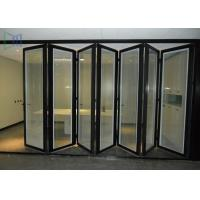 Quality European Style Aluminium Glass Folding Doors Waterproof / Soundproof ISO 9001 Approved for sale