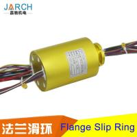 Customized Flange Through Bore Slip Ring AC 1000V 300rpm / Min For Rotating Door Manufactures