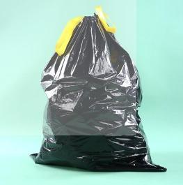 China LDPE Black Heave Duty Plastic Drawstring Garbage Bag for Bin on sale