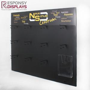China 1000*131*800(mm)  Black Metal Wall Hanging Socks Display Shelf with Hooks on sale