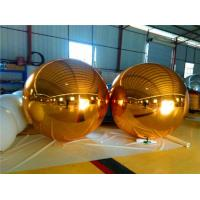 Fire Resistant Gold Mirror Ball Durable Attractive For Store Decoration Manufactures