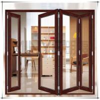 Soundproof Exterior Commercial Aluminium Doors Bifold Double Glass Powder Coated Surface Manufactures