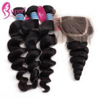 Malaysian Remy Virgin Loose Weave Bundles / Long Human Hair Extensions Manufactures