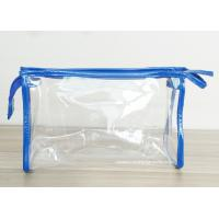 Transparent PVC Cosmetic Bag with Zipper closure , Clear Vinyl Make-Up Pouches Manufactures