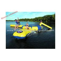 Quality Floating Lake Inflatable Water Trampoline Combo With Blob Rentals Trampoline for sale