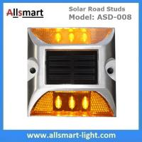 6 LED Solar Road Studs Solar Driveway Lights Aluminum Solar Highway Marker Lights Pedestrian Crossings Warning Lights Manufactures