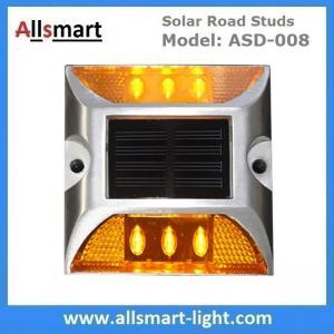6 LED Solar Road Studs Solar Driveway Lights Aluminum Solar Highway Marker Lights Pedestrian Crossings Warning Lights Manufactures