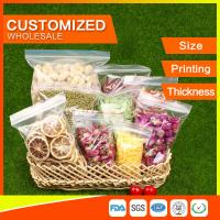 Packing Ziplock Bags Customized LDPE polybags food packing clear grip seal Manufactures