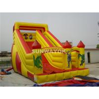Mickey Mouse and Donald Duck Fair Giant Inflatable Commercial Slide With Durable PVC Fire-retardant Manufactures