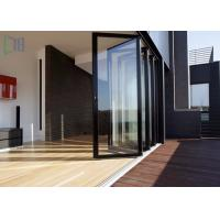 Quality Durable Double Glazed Glass Aluminium Folding Doors / Accordion Balcony Door for sale