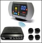 Quality Yellow LCD Wireless Car Parking Sensors DIY Bi-Bi sound Alarm HF 433Mhz for sale