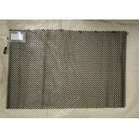 Black Hanging Mesh Fireplace Screens / Metal Mesh Drapery Length Customized Manufactures