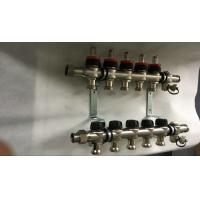 House  Stainless Steel Water Manifold Sliver Color 5 Loop Radiant Manufactures