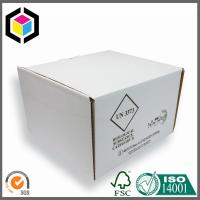 White Color Corrugated Cardboard Packaging Box with Divided Inserts for Food Manufactures