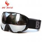 Silver Mirrored Ski Goggles , Fashion Eyeglasses Frameless Snow Goggles