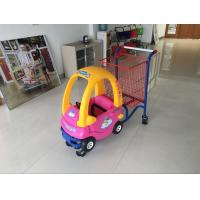 Supermarket kids metal shopping trolley With Baby Car and safety belt Manufactures