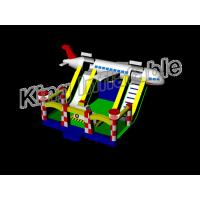 PVC Tarpaulin Airplane  Inflatable Dry Slide Water Slide With CE Certificate