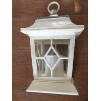 Yellow Flickering Outdoor Patio Solar LED Lantern / Patio Candle Lanterns Manufactures