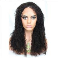 No Shedding 360 Lace Front Human Hair Wigs Afro Kinky Curly 1b Color Manufactures