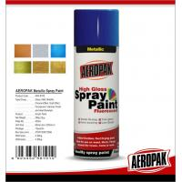 Fast Dry 400ml Aerosol Spray Paints /  High Coverage Black Spray PaintFor Cars Manufactures