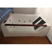 Double Pillows Rectangular Abs Jacuzzi Whirlpool Bathtub With Computer Control Manufactures