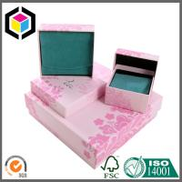 Pink Color Silver Folil Logo Matte Lamination Paper Chipboard Gift Box Manufactures