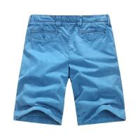 Quality Blue Mens Denim Shorts OEM Garment Dyeing Service European style for sale