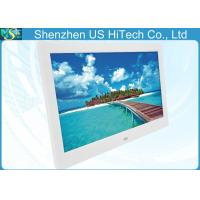 China 10 Inch Remote Control LCD Digital Photo Frame White / Black For Advertisement on sale