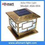 Square Aluminum Solar Pillar Lights Bronze Lampshade Solar Brick Column Post Lamp Solar Welcome Lighting China Factory Manufactures