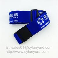 China Polyester Luggage Belt straps, Suitcase Belt With Plastic Buckle And Adjustable Clips on sale