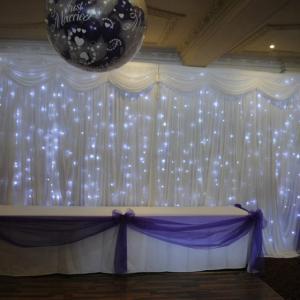 Sky light drape led light black curtain led stage backdrop cloth Manufactures