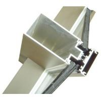 Aluminum Curtain Wall Extruded Profiles with cutting , drilling Manufactures