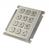12 keys IP65 dust proof  long stroke stainless steel keypad with top panel mounting Manufactures