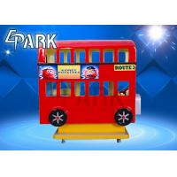 Amusement Park Equipment 3 Seat London Bus Kiddy Ride Game Machine Manufactures