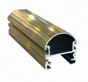 Steel Polished Structural 6061 Aluminum Profile , Wood Grain Coated Extrusion Aluminum Profiles Manufactures