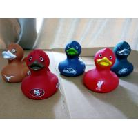 Quality Decorated Multi Colored Rubber Ducks , Eco Friendly Fun Bath Toys For Toddlers for sale