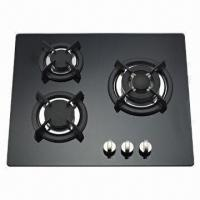 Gas Hob with 3 Burners Glass Panel Manufactures