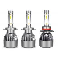 Rain Proof LED Car Headlight Bulbs Support Strobe With High Speed Turbo Fan Manufactures